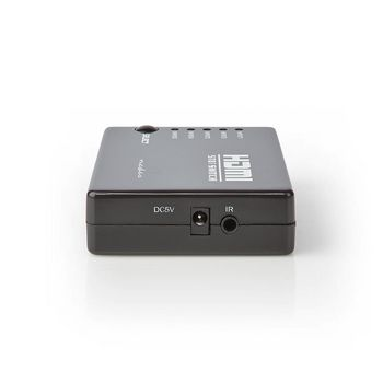 HDMI-Kytkin | 5-Porttinen | 5 x HDMI-Tulo | 1 x HDMI-Lähtö | 1080p | ABS | Antrasiitti | Rasia