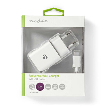 Wall Charger | 2.4 A | Loose Cable | USB-C™ | White