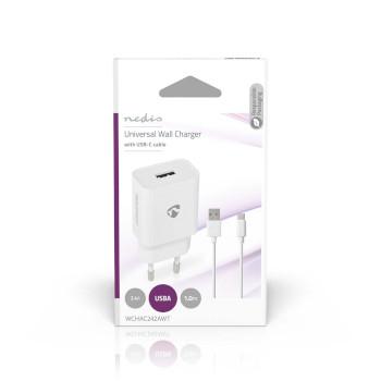 Thuislader | 2,4 A | Losse Kabel | USB-C™ | Wit