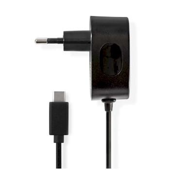 Chargeur Mural | 3.0 A | Câble fixe | USB-C™ | Noir