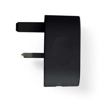 Chargeur Mural | 3.4 A | USB / USB-C | Noir | Prise Britannique
