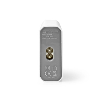 Wall Charger | 10.0 A | 6-outputs | USB-A | White