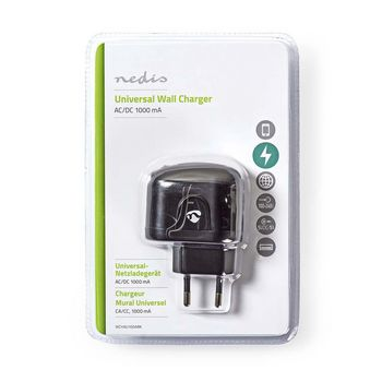 Wall Charger | 1,0 A | 1-Output | USB | Black