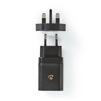 Wall Charger | 1.5 A / 2.0 A / 3.0 A | Number of outputs: 1 | Port type: 1x USB-C™ | 18 W | Automatic Voltage Selection