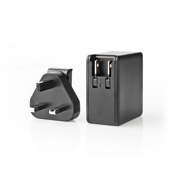 Wall Charger | 3.0 A | USB / USB-C | Power Delivery 45 W | Black | UK Plug