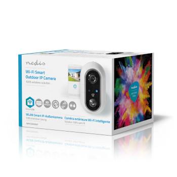 SmartLife Ulkokamera | Wi-Fi | Full HD 1080p | IP65 | Maksimi akunkesto: 4 kuukautta | Cloud / Micro SD | 5 VDC | Liiketunnistimella | Yökuvaus | Android™ & iOS | Valkoinen