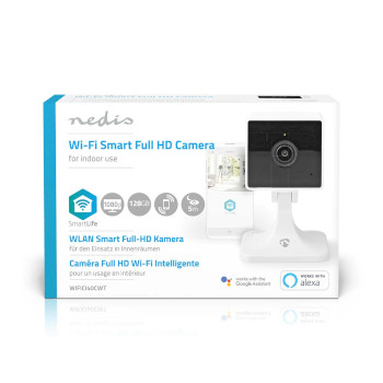 SmartLife Indoor Camera | Wi-Fi | Full HD 1080p | Cloud / microSD | Night vision | Android™ & iOS | White