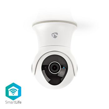 SmartLife Camera voor Buiten | Wi-Fi | Full HD 1080p | IP65 | Cloud / Intern 16 GB | 12 VDC | Nachtzicht | Android™ & iOS | Wit