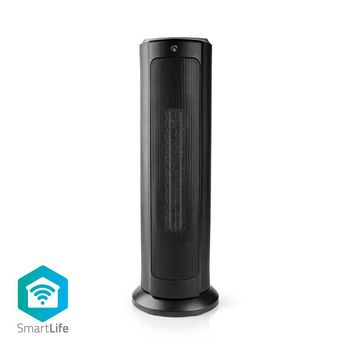 SmartLife Ventilatorkachel | Wi-Fi | Toren | 2000 W | 3 Warmte Standen | Zwenkfunctie | Display | 15 - 35 °C | Android™ & iOS | Zwart