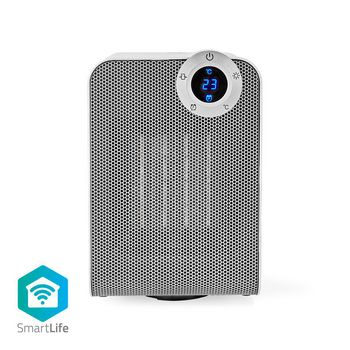 Wi-Fi Smart Fan Heater | Compact | Thermostat | Oscillation | 1800 W | White