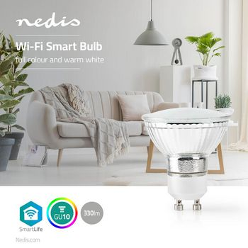 Wi-Fi Smart LED Bulb | Full-Colour and Warm White | GU10