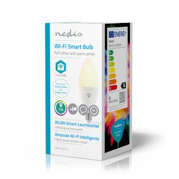 Wi-Fi Smart LED Bulb | Full Colour and Warm White | E14
