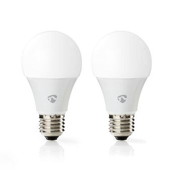Wi-Fi Smart LED Bulb | Full Colour and Warm White | E27 | 2-Pack