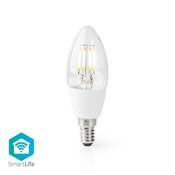 Wi-Fi Smart LED-Lamp | E14 | C37 | 5 W | 400 lm | Wit