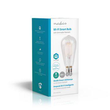 Nedis Wi-Fi Smart LED-lampa | E27 | ST64 | 5 W | E500 lm