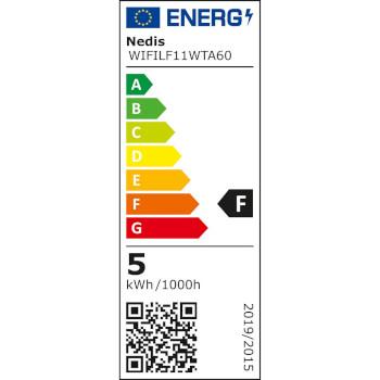 SmartLife LED Filament Bulb | Wi-Fi | E27 | 500 lm | 5 W | Warm White | 2700 K | Android™ & iOS | Diameter: 60 mm | A60