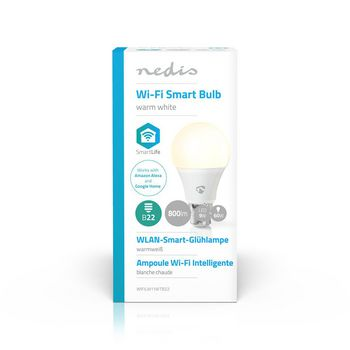 Lampadina LED Smart Wi-Fi | Bianco caldo | B22