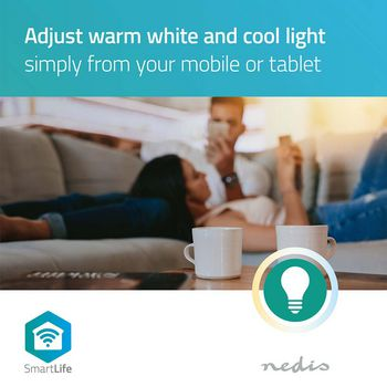 SmartLife LED Bulb | Wi-Fi | E27 | 800 lm | 9 W | Warm White | 2700 K | Energy class: A+ | Android™ & iOS | Diameter: 60 mm | A60