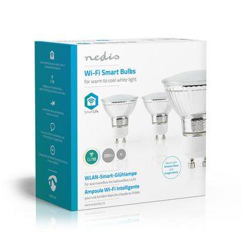 Wi-Fi Smart LED Bulb | Warm to Cool White | GU10 | 3-Pack