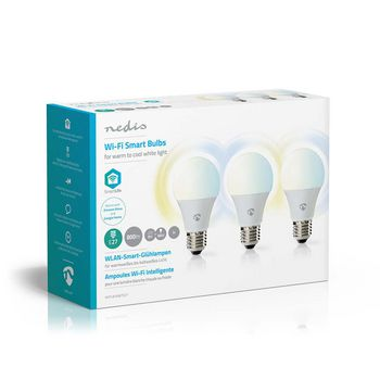 WiFi Smart LED Bulbs | Warm to Cool White | E27 | 3 pack