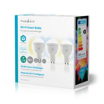 WiFi Smart LED Bulbs | Warm to Cool White | GU10 | 3 pack