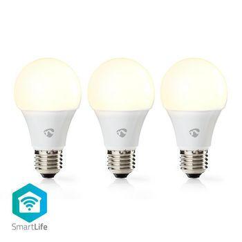 Wi-Fi Smart LED Bulb | Warm White | E27 | 3-Pack