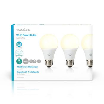 SmartLife LED Bulb | Wi-Fi | E27 | 800 lm | 9 W | Warm Wit | 2700 K | Energieklasse: A+ | Android™ & iOS | Diameter: 60 mm | A60