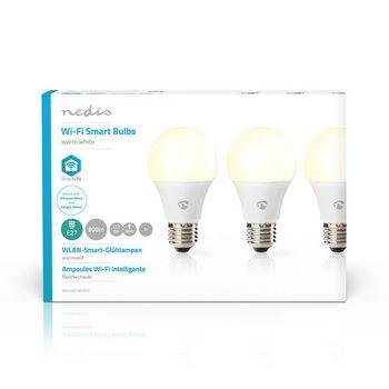 SmartLife LED Bulb | Wi-Fi | E27 | 800 lm | 9 W | Varm Hvid | 2700 K | Energiklasse: A+ | Android™ & iOS | Diameter: 60 mm | A60