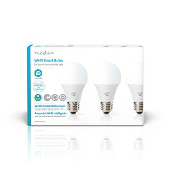 SmartLife Bulb | E27 | 800 lm | 9 W | Cold White / Dimmable White / Warm White | 2700 - 6500 K | A+ | Android™ & iOS | Wi-Fi | Diameter: 60 mm | A60