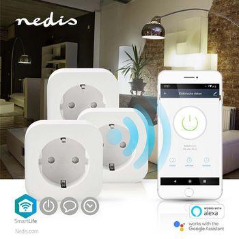 Wi-Fi smart-plug | Schuko Type F | 10 A | 3-pak