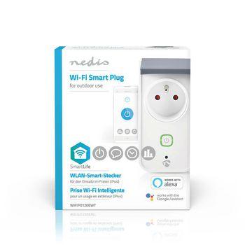 Wi-Fi Smart Outdoor Plug   Splashproof   IP44   Power Monitor   French Socket Type E   16 A