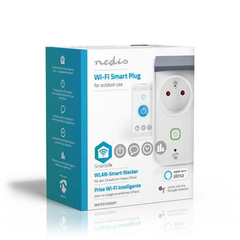 Wi-Fi Smart Outdoor Plug | Splashproof | IP44 | Power Monitor | French Socket Type E | 16 A