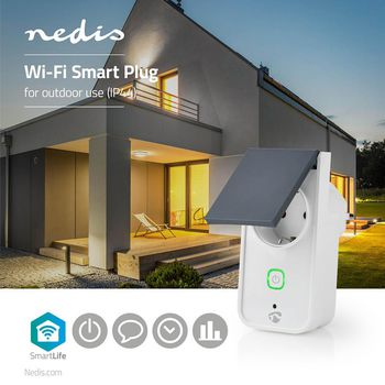 Wi-Fi Smart Outdoor Plug | Splashproof | IP44 | Power Monitor | Schuko Type F | 16 A