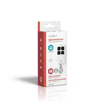 Mando a Distancia Inteligente | ZigBee | 4 Botones | Batería Incluida | Blanco