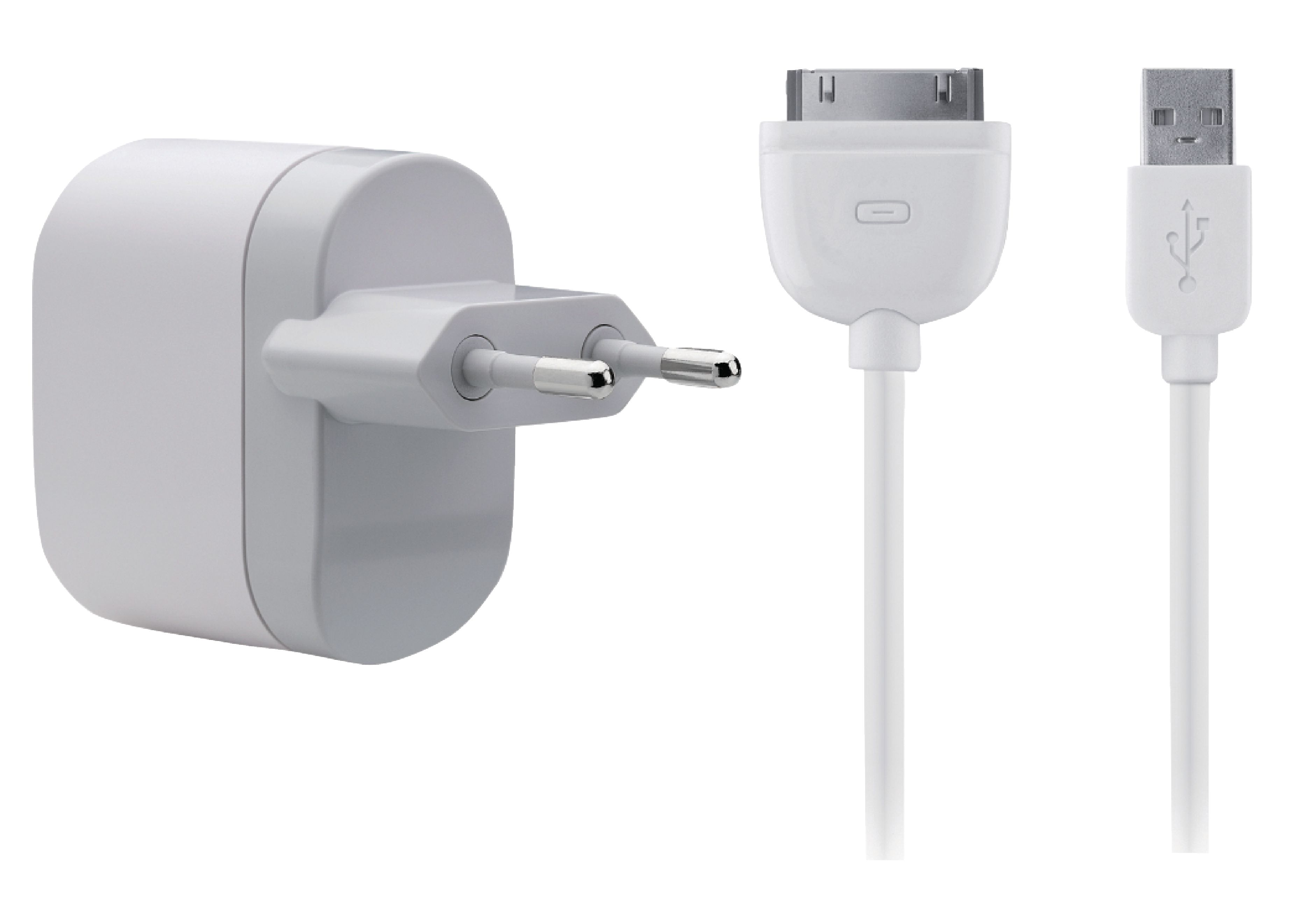Wall Charger 1 Output 2.1 A 2.1 A USB WhiteGrey | Nedis
