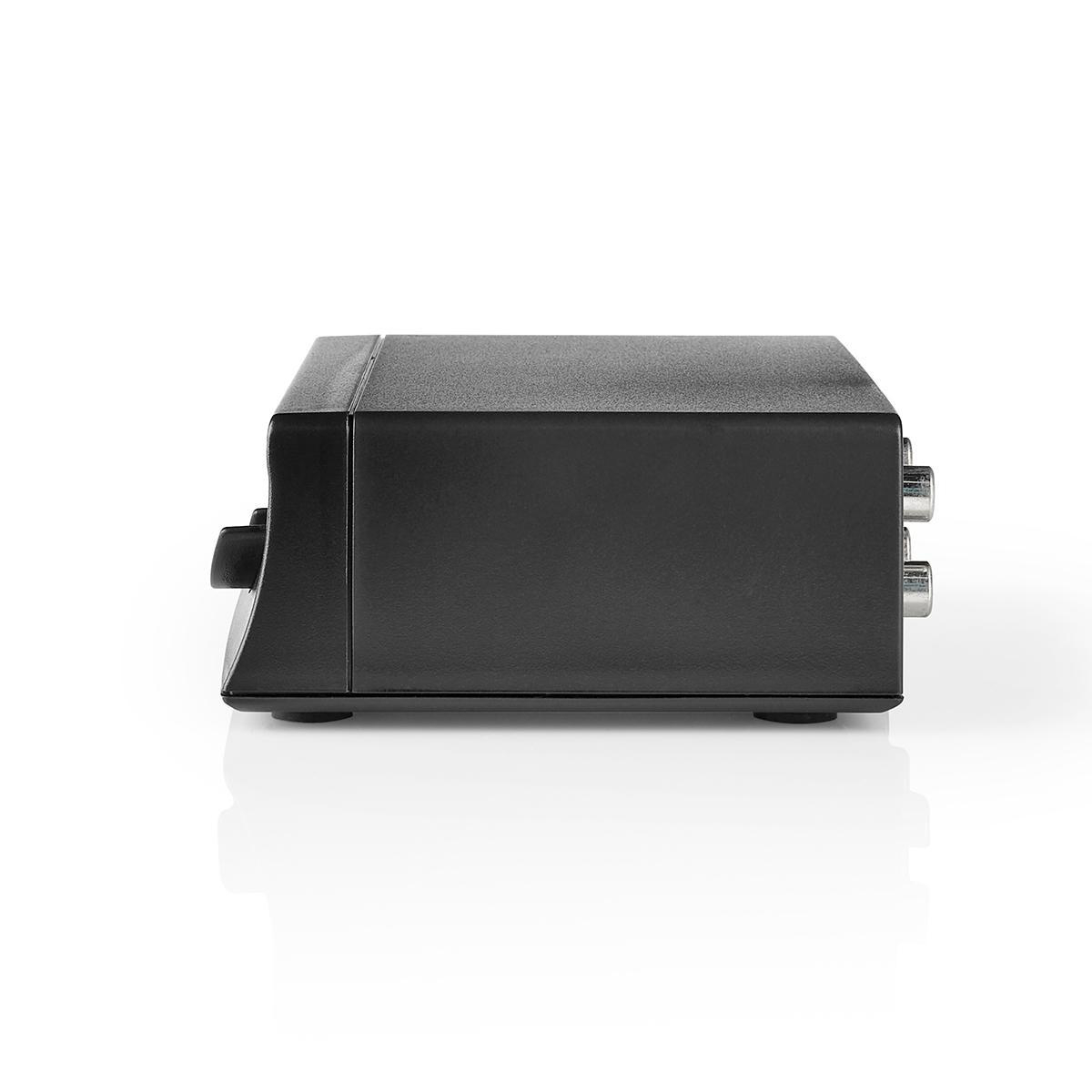 3X Nedis ASWI2403BK Commutateur Audio Analogique Noir 2X RCA Femelle - 2X RCA Femelle