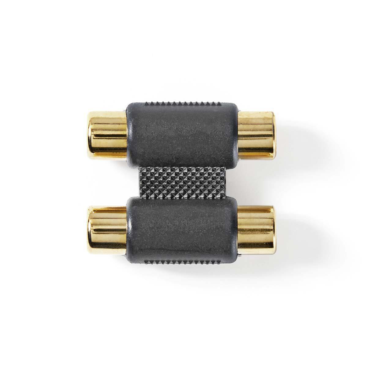 Buchse Audio-Adapter 2x Cinchkupplung auf 1x Cinchkupplung Kupplung Anschluss