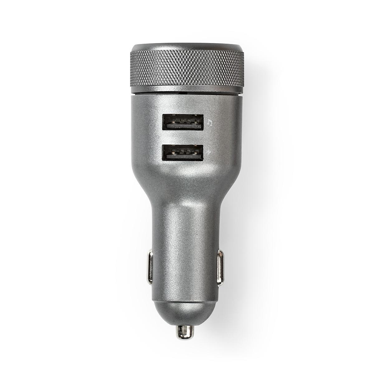 FM Sender For bil   Bluetooth®   Håndfrie Anrop   2 stk. USB