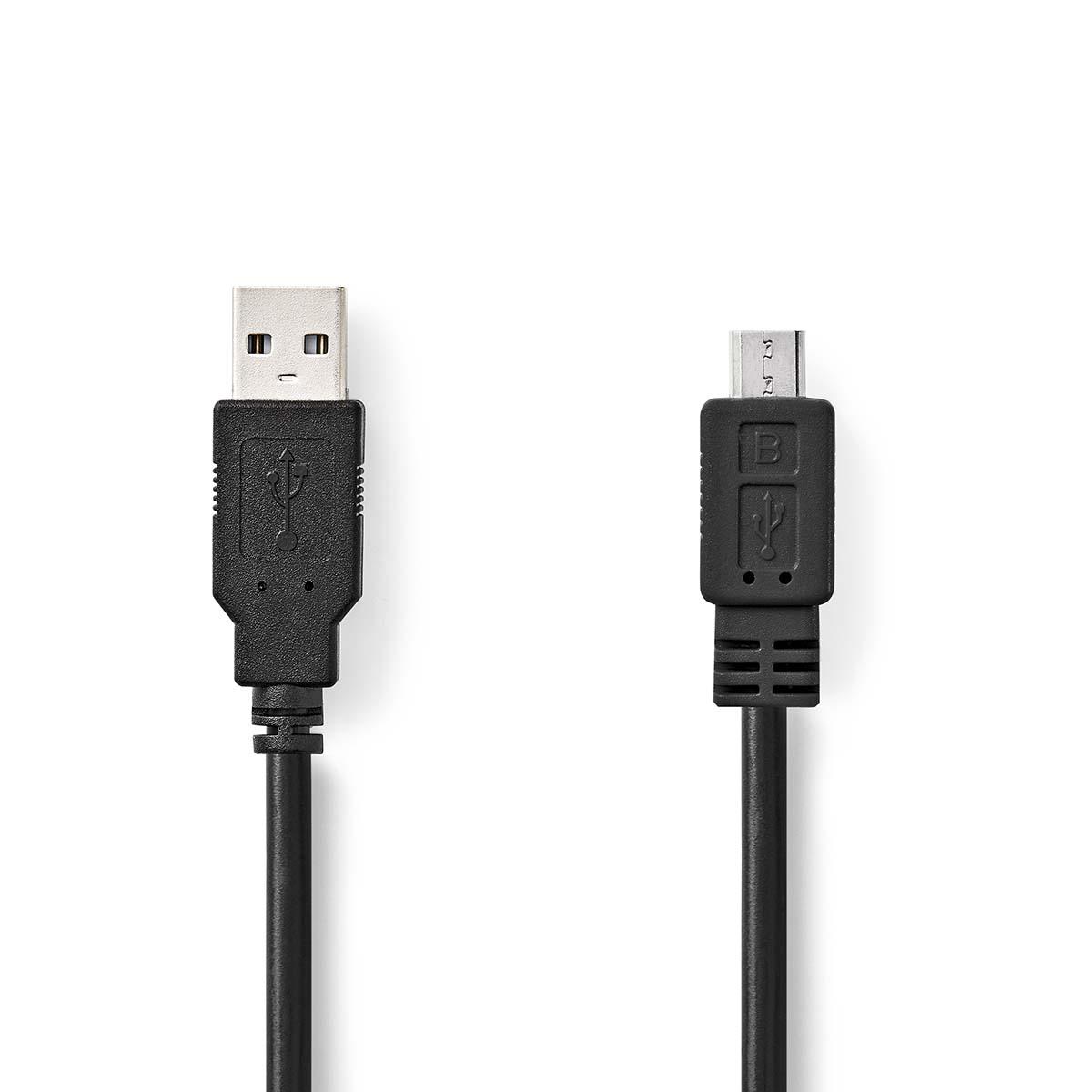 Mikro USB–USB kabel   Micro B USB A   NEDIS   Jula