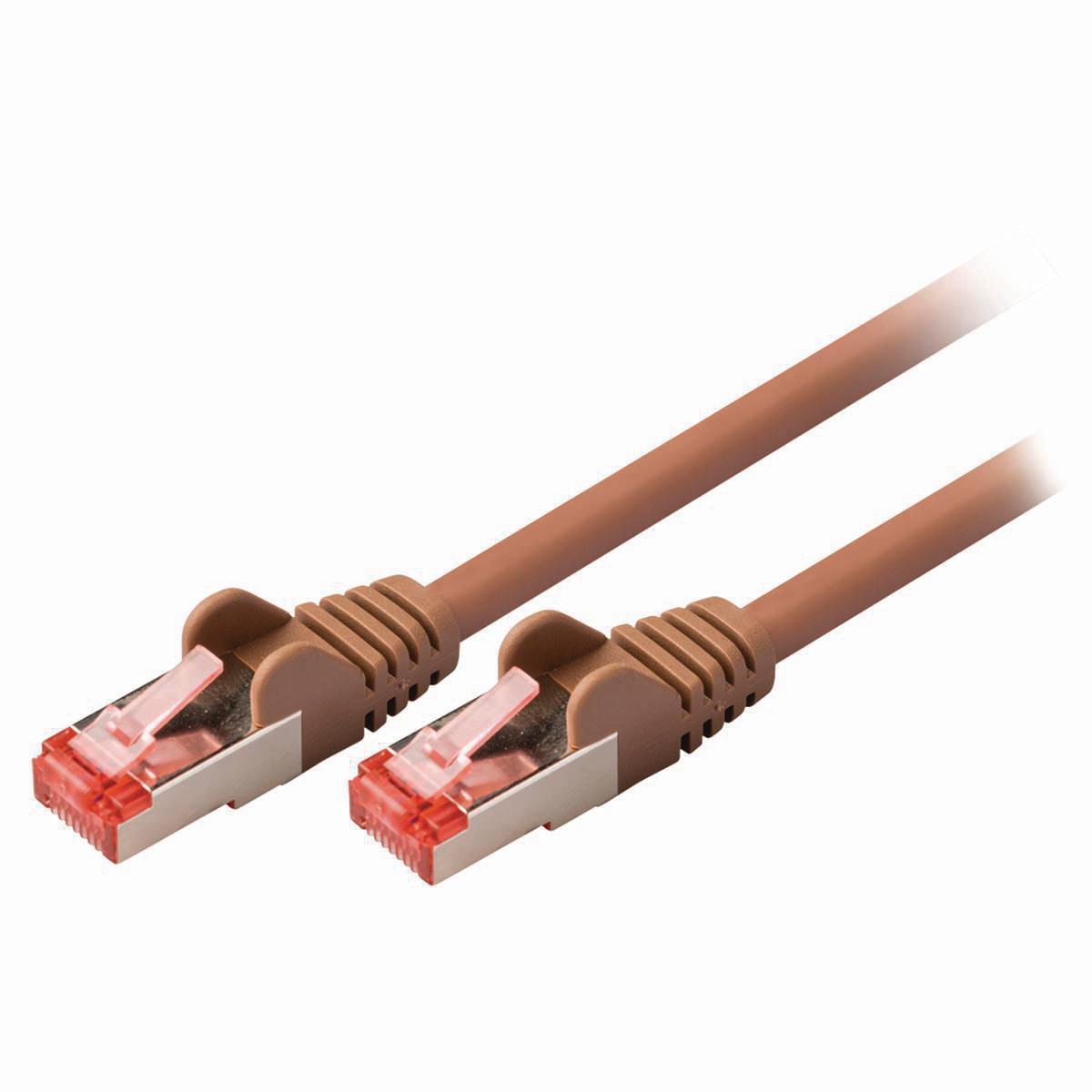 Nedis Cat 6 S/FTP Network Cable   RJ45 Male - RJ45 Male   10 m   Brown