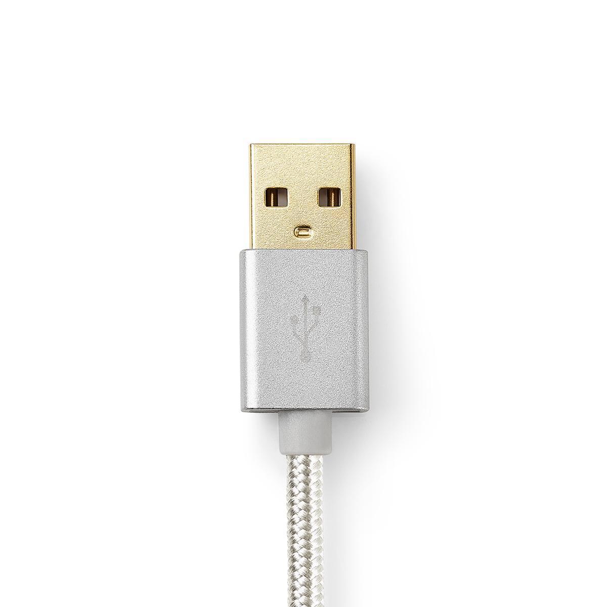 USB 2.0 kabel för synkronisering, laddning och AV stöd