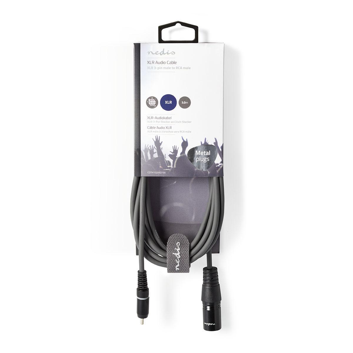 /> Cinch XLR Adapter XLR Stecker Buchse 3-Pin