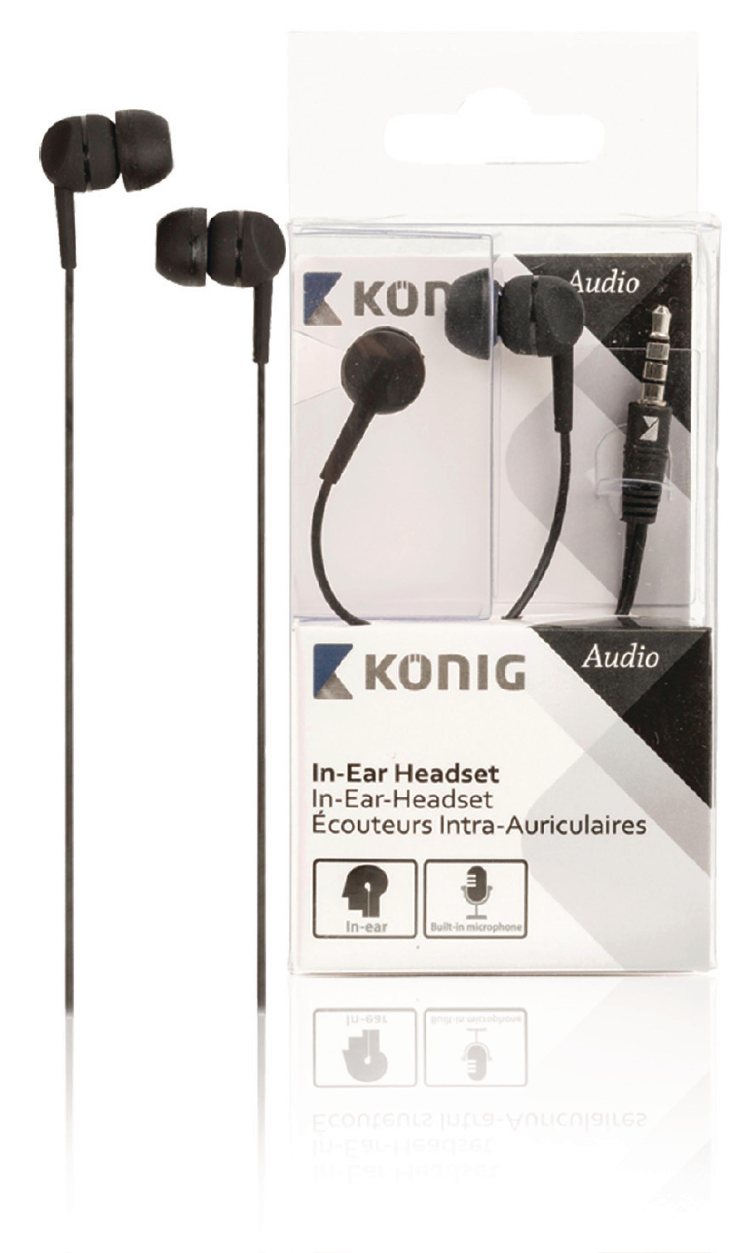 Headset I Øret 3.5 mm Ingen innebygd mikrofon 1.2 m Sort | Nedis