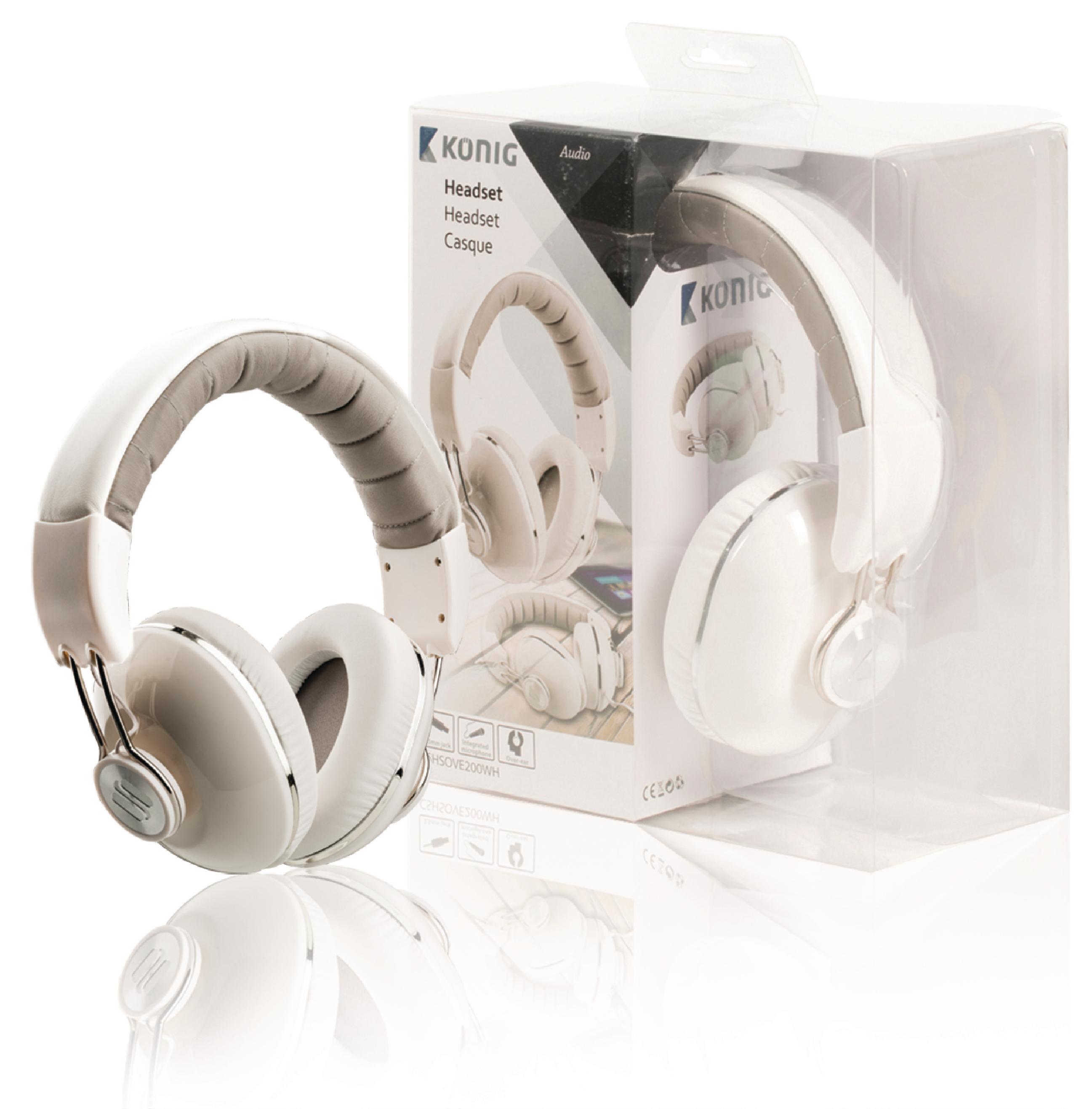 Stereo headset med innebygd mikrofon, König