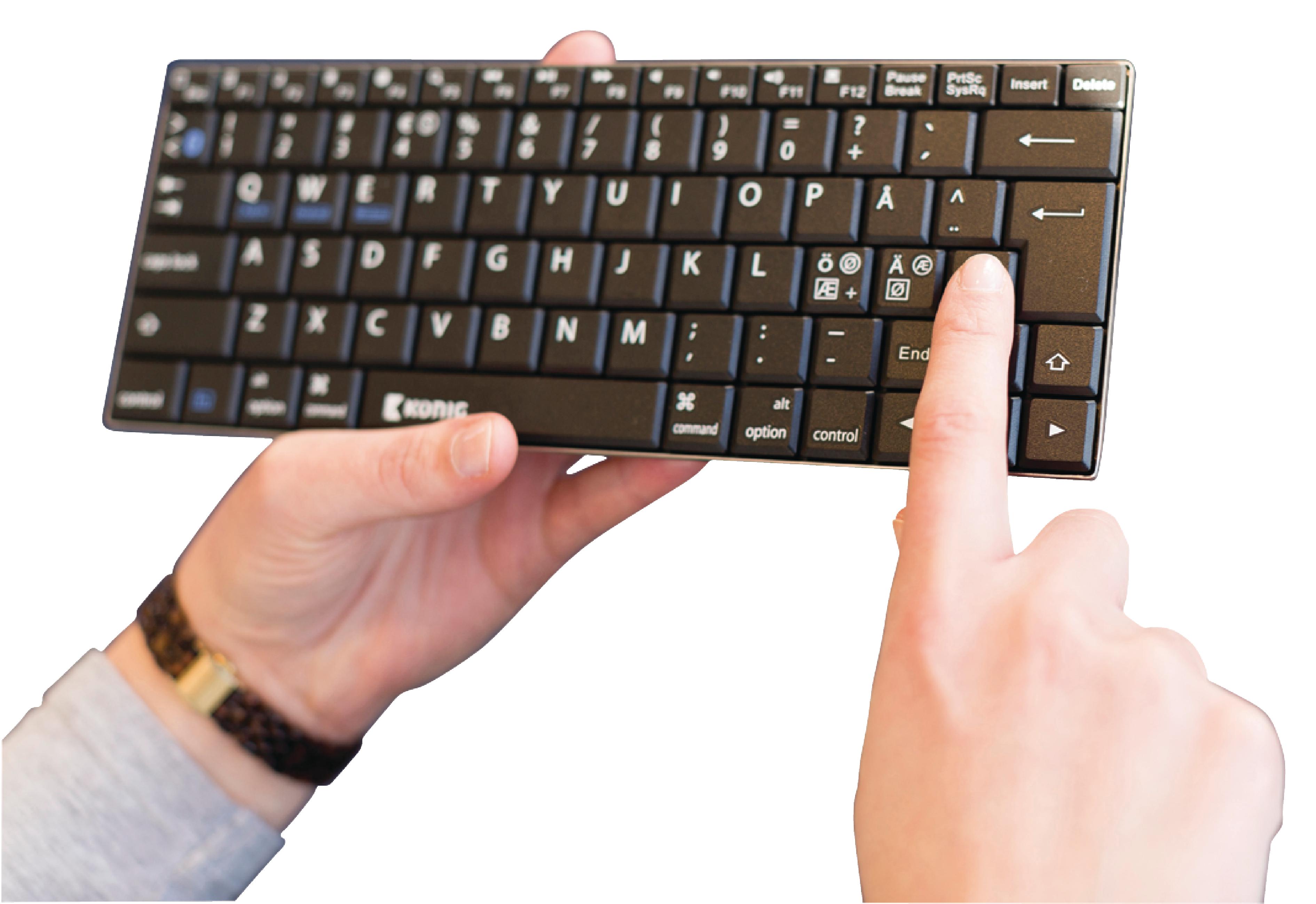 Bluetooth Tastatur Bærbar US International SølvSort | Nedis