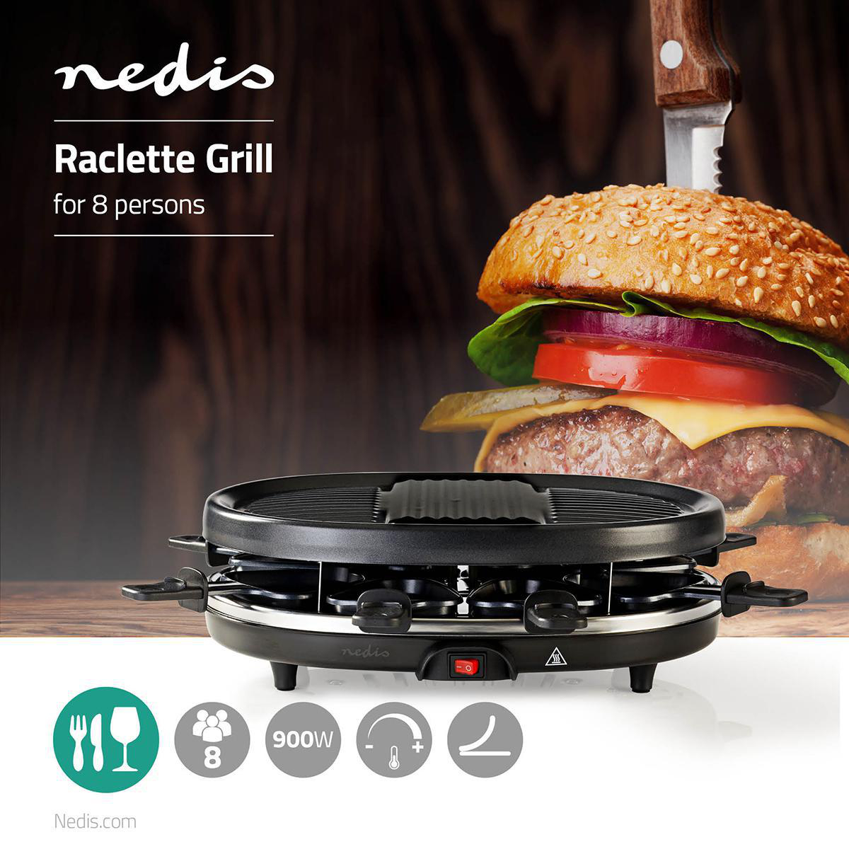 Raclette Grill for 8 people, 900W | eStore
