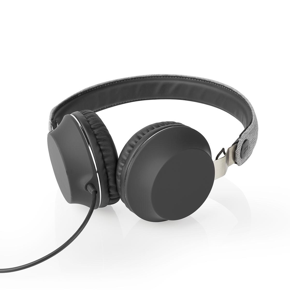 3.5 mm Seill/änge: 1.20 m 85 dB Schwarz Schwarz 1.20 m NEDIS On-Ear-Kopfh/örer mit Kabel On-Ear-Kopfh/örer mit Kabel