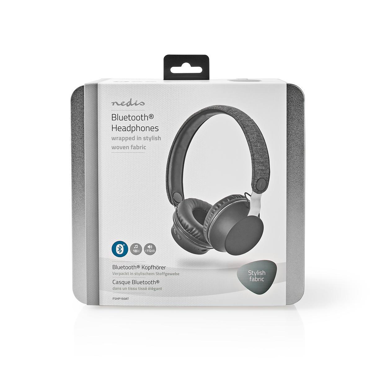 Fabric Bluetooth Headphones On Ear 18 Hours Playtime Anthracite Black Nedis