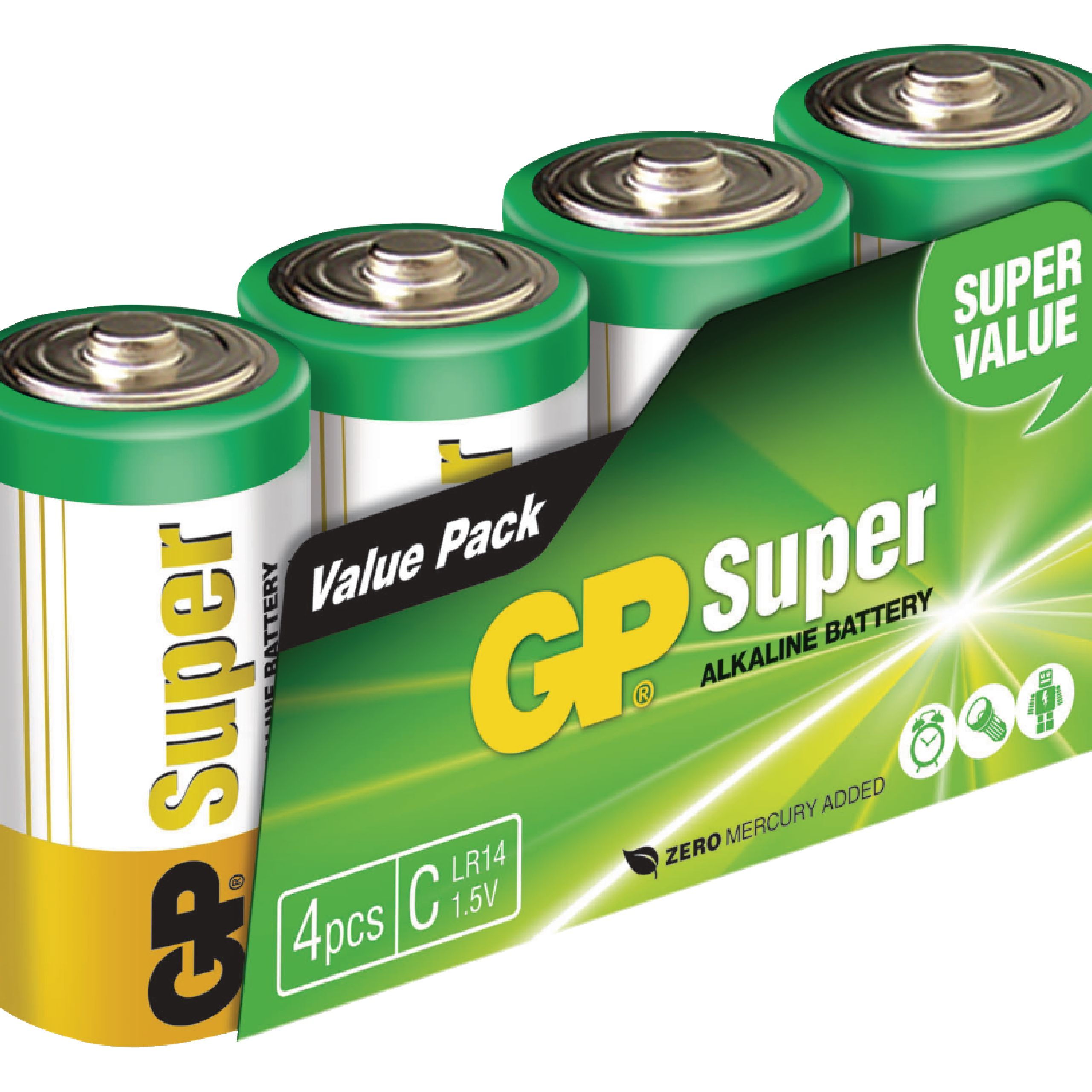 Alkaline Battery C 1 5 V Super 4 Pack Nedis