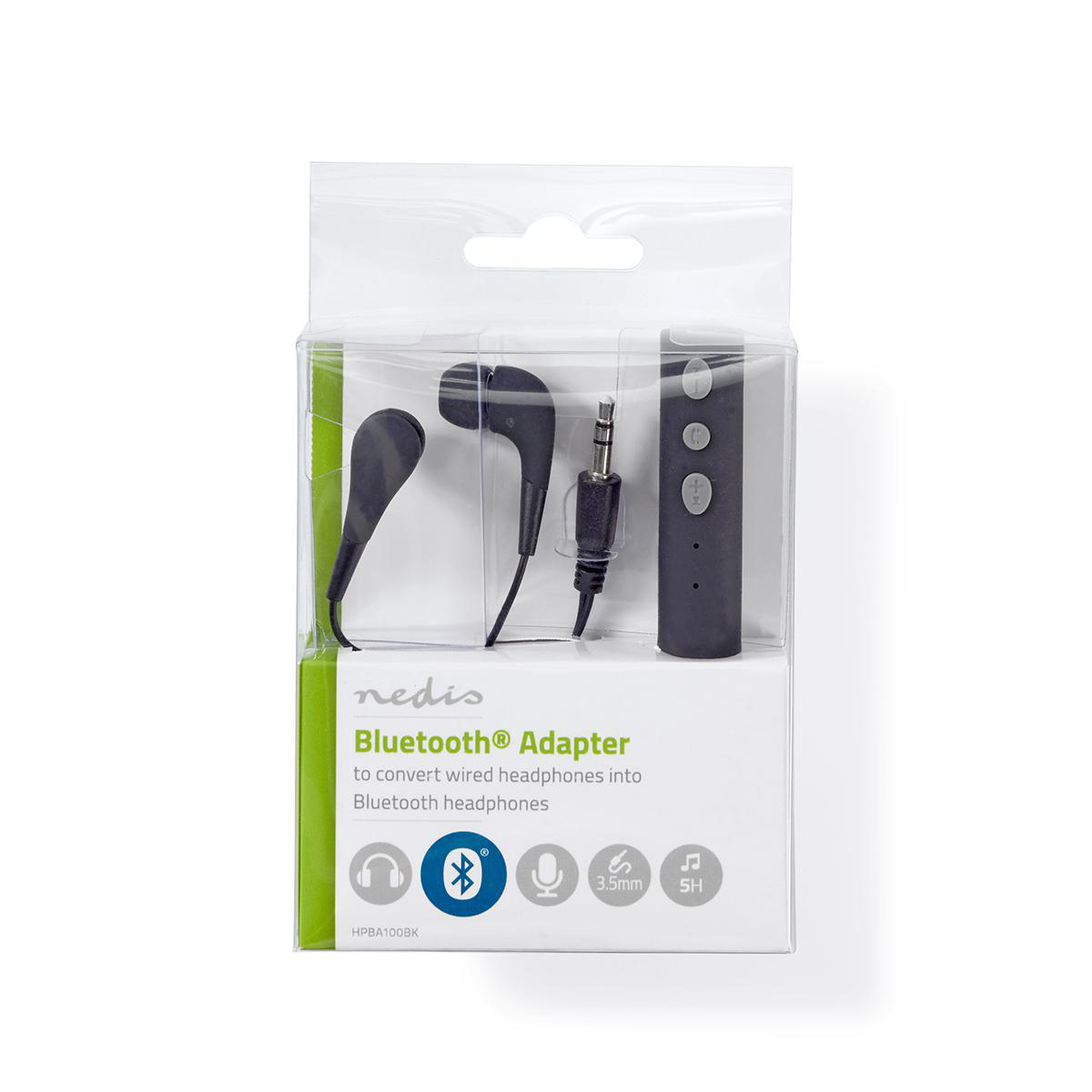 Headphones Adapter Bluetooth Built In Microphone Up To 5 Hours Playtime Free Headphones Nedis